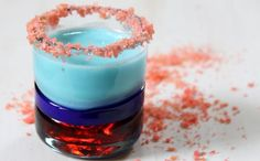 Red and Blue Pop Rocks Shooters Patriotic Drink Recipe