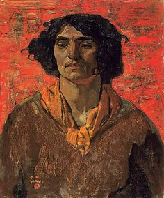 Gypsy Head, by F. Varley (Canadian Group of Seven, Tom Thomson, Emily Carr, English Artists, Canadian Artists, Group Of Seven Artists, House Painter, Inuit Art, Figure Painting, American Art