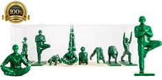 Yoga Joes - Green Army Men Toys -- More info could be found at the image url… Kid Poses, Yoga Poses, Army Men Toys, Unique Gifts For Sister, Green Army Men, Yoga International, Crow Pose, Cobra Pose, Hipster Girls