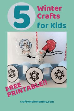 Easy 15 minute winter crafts to do with your kids on snow days. Crafts include a construction paper winter decoration cr Indoor Activities For Kids, Christmas Activities, Toddler Activities, Preschool Ideas, Toddler Games, Winter Activities, Outdoor Activities, Christmas Crafts, Winter Crafts For Kids