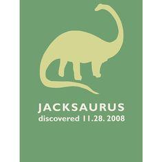 Personalized dinosaur shirt for dinosaur birthday party!