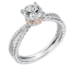 Diamond Coral Ring Designer M Christoff Lovely Luster Gemstone