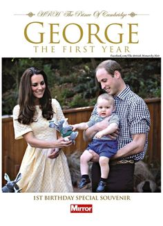 "Prince George ""1st Birthday Special Souvenir"" magazine, published by The Mirror."