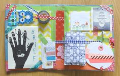 Folder made to hold snail mail package---love this idea!-------Snailmail Magazine (English blog): Search results for jantina
