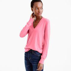 Love a good pink sweater!