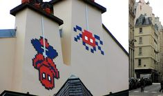 Space invader. #spaceinvader http://www.widewalls.ch/artist/space-invader/