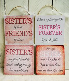 handmade plaque sign gift present sister sayings quotes christmas birthday heart Sister Christmas Presents, Sisters Presents, Diy Christmas Gifts, Christmas Birthday, Happy Birthday, Birthday Nails, Sisters Christmas Gifts, Christmas Plaques, Birthday Crafts