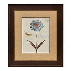 Slate Blue Floral IV Framed Art Print