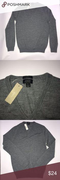 "NWT J.Crew Slim Merino Wool Sweater Size Small NWT J.Crew Slim Merino Wool Sweater Size Small, very upset it's to small, nice sweater  Armpit to Armpit - 19"" Length - 25""  (E) J. Crew Sweaters V-Neck"