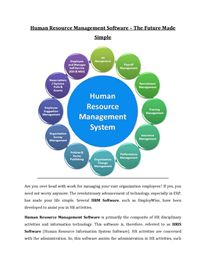 Human Resource Management Software – The Future Made Simple Human Resource Management System, Hr Management, Life Cycles, Human Resources, Make It Simple, Software, Future, Business, Future Tense