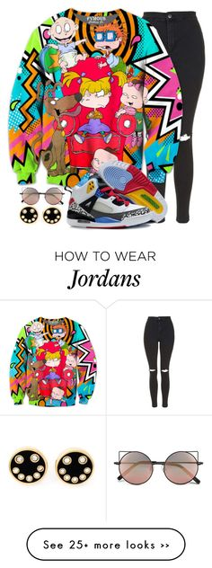 """"""""""" by mikaria-fashion on Polyvore featuring Topshop, Marc by Marc Jacobs and Linda Farrow"""