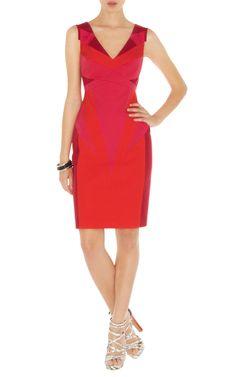 Dresses | COLOUR CONTRAST DRESS | Karen Millen