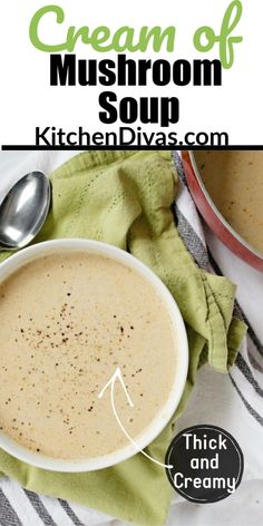 This soup is not only the best cream of mushroom soup recipe, but this easy, creamy soup is perfect for mushroom soup lovers!  #mushroomsoup #comfortfood Creamy Mushroom Soup, Mushroom Soup Recipes, Creamed Mushrooms, Stuffed Mushrooms, Stuffed Peppers, Healthy Recipes, Sweets Recipes, Chili Recipes, Delicious Recipes