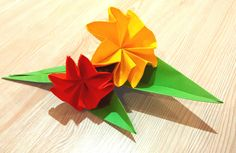 Gift box decoration . Gift wrap. Ideas for Easter and Mother's day Spring flowers - Origami paper flowers New Ideas for Christmas wreath. Paper Christmas wre...