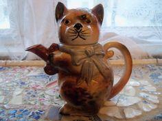 Cat Tea Pot Royal Japan TeaPot ca late 40s / by MandaToryTreasures, $25.00