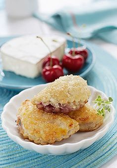 Tart Cherry and Goat Cheese Turnovers