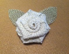 Shabby Chic Burlap Boutonniere Groom, Groomsmen, Father of the bride and groom, Ring bearer. $5.00, via Etsy.