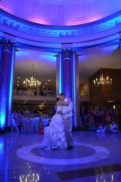 Uplighting can really add a touch of class to any event. Amazing glowing dance floor!  #Uplighting #wedding #weddingdj