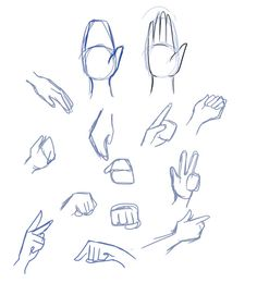 There are many techniques to draw hands, but my favorite is the mitten technique. Start with a basic shape and the thumb, and then draw the fingers in.