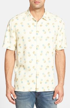074be530 Tommy Bahama 'A Lotta Colada' Island Modern Fit Print Sport Shirt Casual  Button Down
