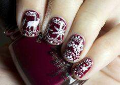 Christmas Bordo Nails