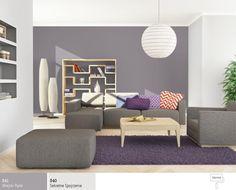 Połączenie kolorów szarych wsalonie Outdoor Furniture Sets, Outdoor Decor, Floor Chair, Couch, Flooring, Living Room, Interior, Home Decor, Apartments