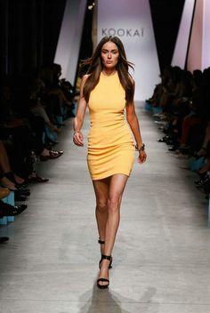 yellow dress kookai pants