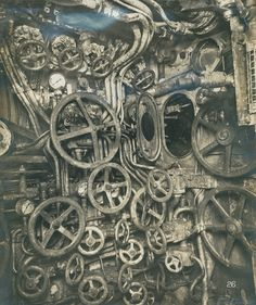 Control Room of a German U-Boat, 1918