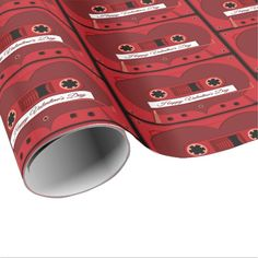 Love Songs Mix Tape Wrapping Paper - valentines day gifts love couple diy personalize for her for him girlfriend boyfriend Gift Wrapping Paper, Custom Wrapping Paper, Saint Valentine, Valentine Day Gifts, Gifts Love, Love Girlfriend, Retro Gifts, Romantic Gifts, Paper Paper