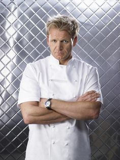 Chef Gordon Ramsey- I don't know why.  But I sort of want him to yell at me in that sexy British voice... but you know, not the typical stuff he yells at the people on his shows. .... Don't judge me.