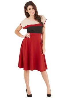 Bugle Joy Skirt in Scarlet | Mod Retro Vintage Skirts | ModCloth.com