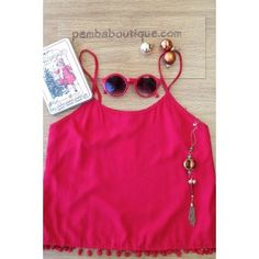 Top Bobble Chemise Red $29.99