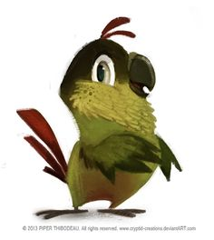 DAY 351. Conure by Cryptid-Creations on deviantART