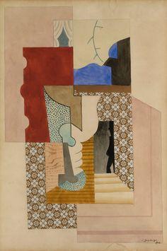 Léopold Survage (31 July 1879 – 31 October 1968)  Composition Cubiste