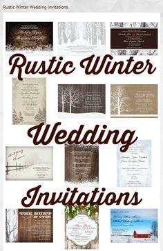 Rustic Winter Wedding Invitations #wedding #winterwedding