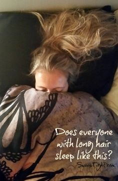 Seriously, doesn't everyone with long hair sleep like this on their memory foam pillow? #NaturesSleep http://www.naturessleep.com/pillows/