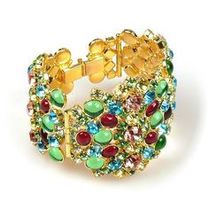 Enigma Bangle Bracelet. Unique chunky bangle bracelet, designed as five segments with exclusive Preciossa first class crystal rhinestones. $89.90