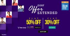 Tops Brands, Top Discount! Get Flat 50% OFF on VanHeusen, Allen Sooly & People brands at Trendin #TrendIN #Fashion #Shopping #India #VanHeusen #AllenSooly