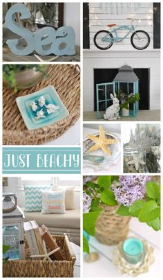 Coastal Cottage Home Decor. Decorating ideas with affordable @homegoods finds for a beautiful, beach style on a budget! sponsored pin  foxhollowcottage.com