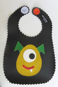 Black Monster Baby Bib