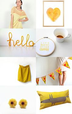 Life begins after coffee  #yellow #spring  #gifts #forthehome #homedecor #etsy