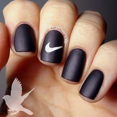 If you're looking for some cute nail art designs, you are at the right place!These 20 Simple nails are so easy to make and they are super cute as well. Simple Nail Art Designs, Best Nail Art Designs, Easy Nail Art, Nike Nails, Fun Nails, Sport Nails, Basketball Nails, Manicure E Pedicure, Simple Nails