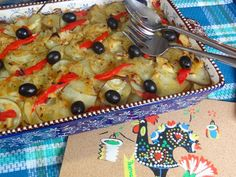 Bacalhau com Batatas a Rodelas - Salt Cod Scalloped Potatoes. recipe from Tia Maria's Blog