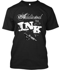 "Awesome ""ADDICTED TO INK"" Tattoo T-shirt"