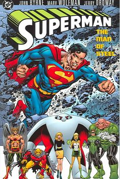 Collects the early chapters of Supermans relaunch in 1986, in which DC Comics devised a major revision of the character, along with his friends, his enemies, and his city. Color: Steel.