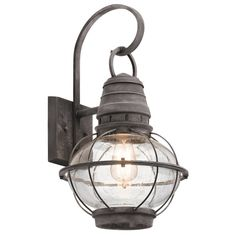 Check out Seeded Glass Globe Outdoor Wall Lantern - Large from Shades of Light