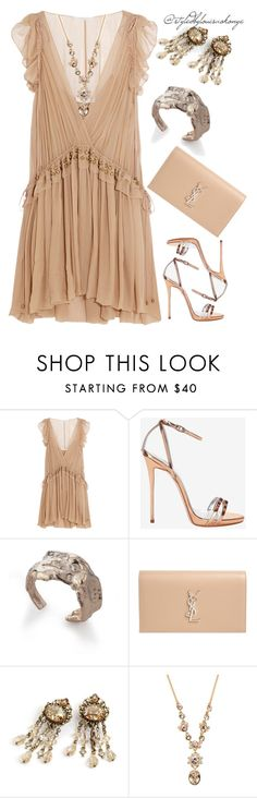 """""""nudes I"""" by louisaokonye ❤ liked on Polyvore featuring Chloé, Giuseppe Zanotti, Noritamy, Yves Saint Laurent, Sweet Romance and Givenchy"""