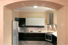 Modern Kitchen With The Built In Home Appliances Stock Photo From Built In Kitchen  Appliances Ltd