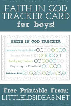 Faith in God Tracker for Boys - Little LDS IdeasLittle LDS Ideas
