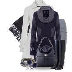 Winter White Lace Trim Coat